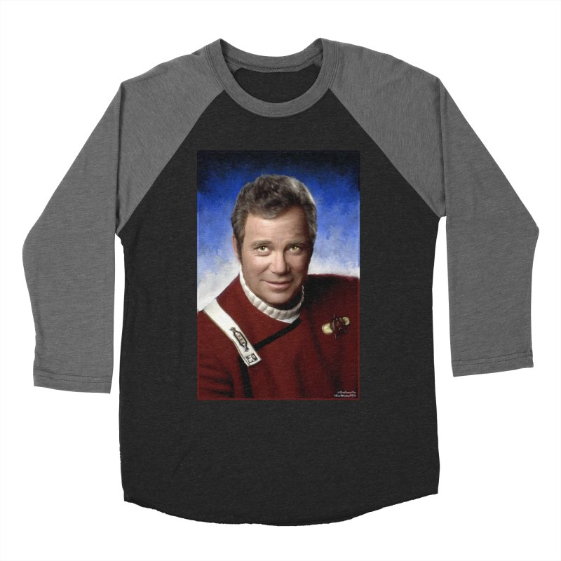 Star Trek - Captain James T. Kirk - William Shatner Women's Longsleeve T-Shirt by EvoComicsInc's Artist Shop