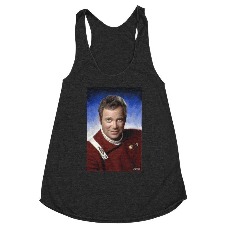 Star Trek - Captain James T. Kirk - William Shatner Women's Racerback Triblend Tank by Evolution Comics INC