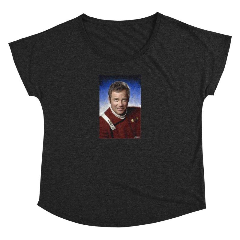 Star Trek - Captain James T. Kirk - William Shatner Women's Scoop Neck by EvoComicsInc's Artist Shop
