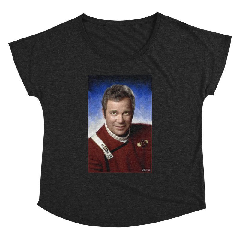 Star Trek - Captain James T. Kirk - William Shatner Women's Dolman Scoop Neck by Evolution Comics INC
