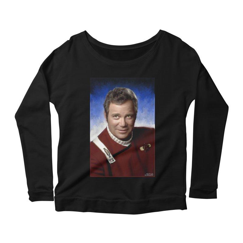 Star Trek - Captain James T. Kirk - William Shatner Women's Scoop Neck Longsleeve T-Shirt by EvoComicsInc's Artist Shop