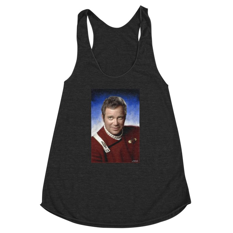 Star Trek - Captain James T. Kirk - William Shatner Women's Racerback Triblend Tank by Evolution Comics INC