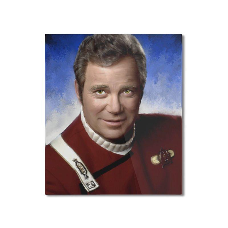 Star Trek - Captain James T. Kirk - William Shatner Home Mounted Aluminum Print by EvoComicsInc's Artist Shop