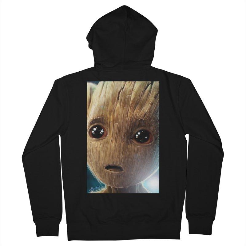 Groot (Baby) Men's French Terry Zip-Up Hoody by EvoComicsInc's Artist Shop