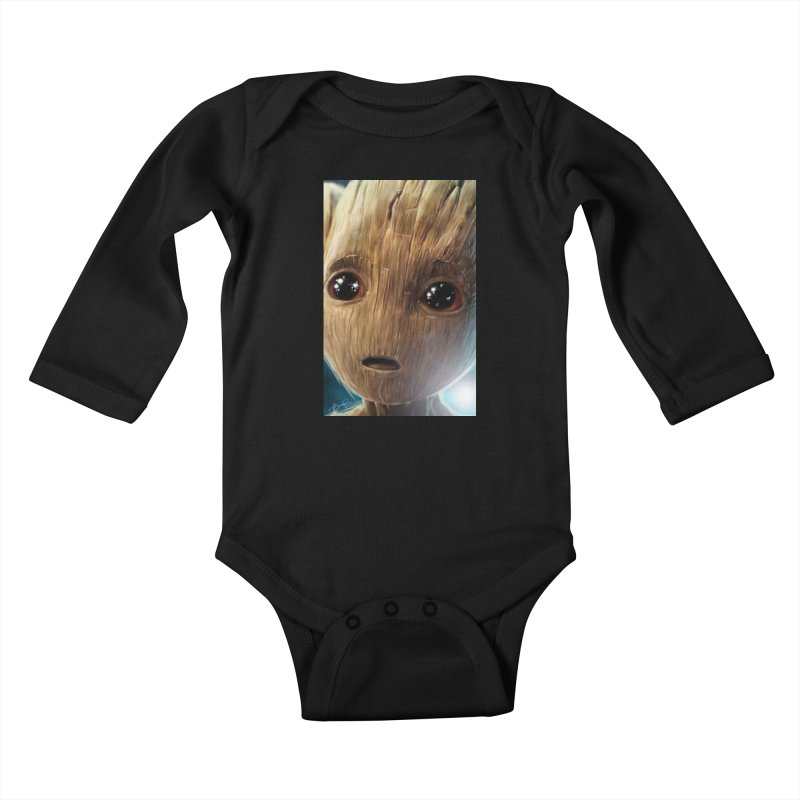 Groot (Baby) Kids Baby Longsleeve Bodysuit by Evolution Comics INC