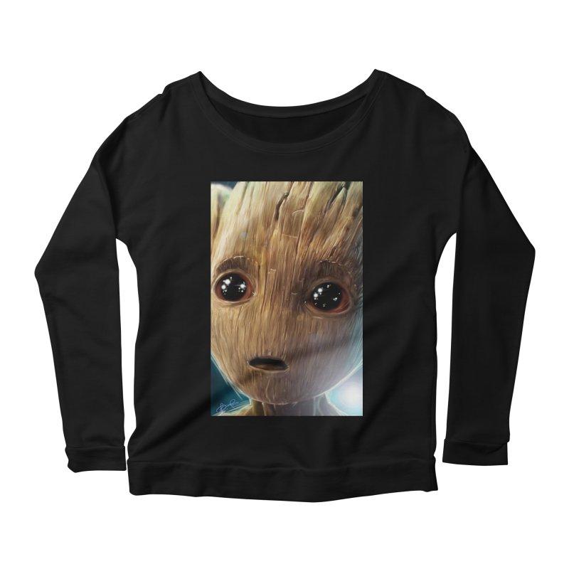 Groot (Baby) Women's Scoop Neck Longsleeve T-Shirt by EvoComicsInc's Artist Shop