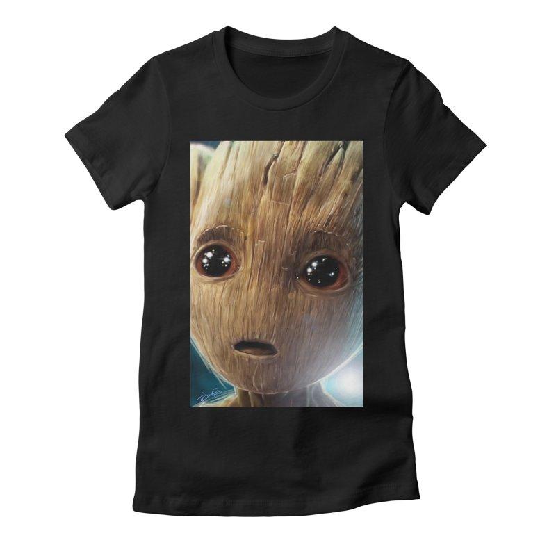 Groot (Baby) Women's Fitted T-Shirt by EvoComicsInc's Artist Shop