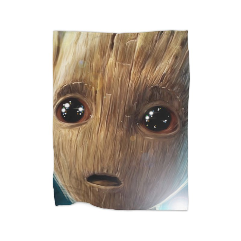 Groot (Baby) Home Fleece Blanket Blanket by Evolution Comics INC