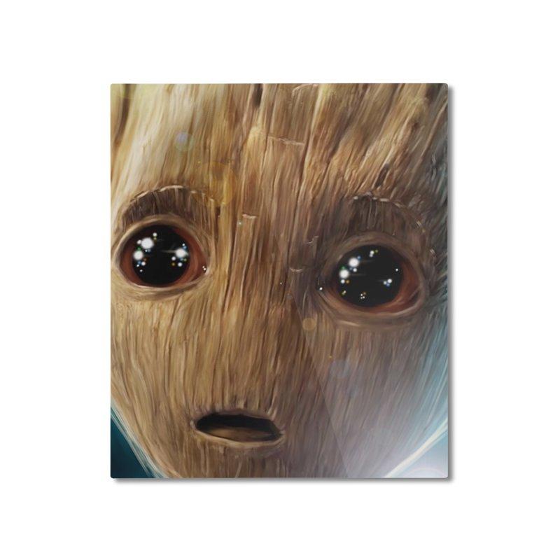 Groot (Baby) Home Mounted Aluminum Print by EvoComicsInc's Artist Shop