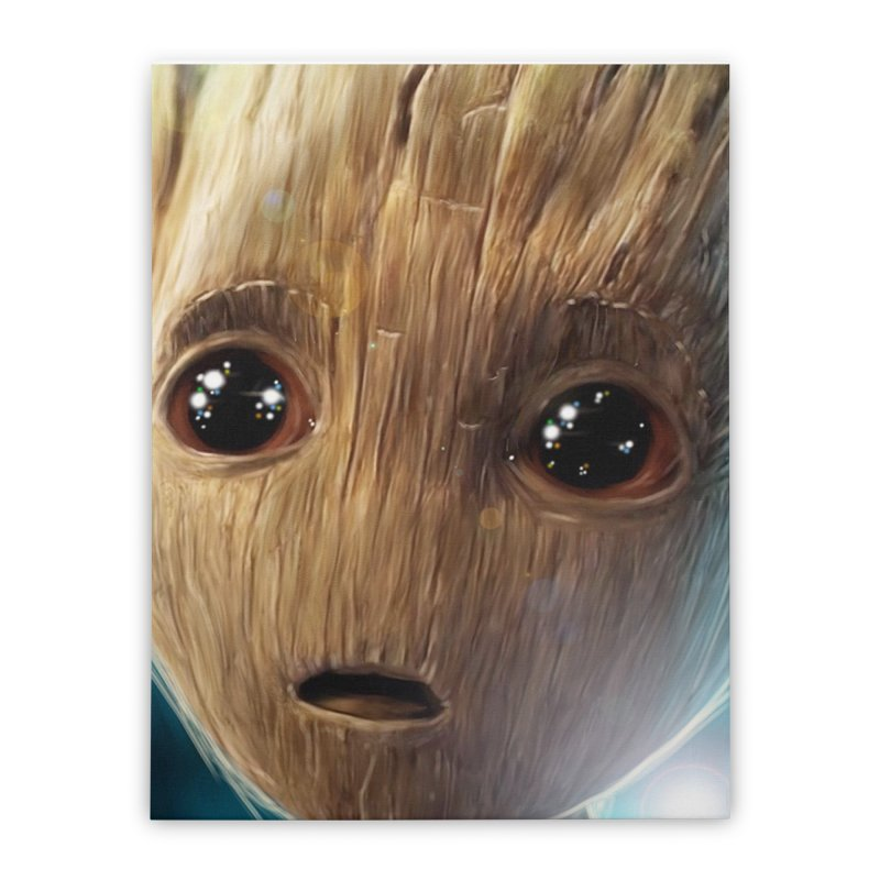 Groot (Baby) Home Stretched Canvas by EvoComicsInc's Artist Shop