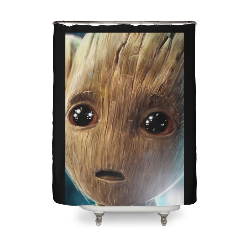 Groot (Baby) Home Shower Curtain by Evolution Comics INC