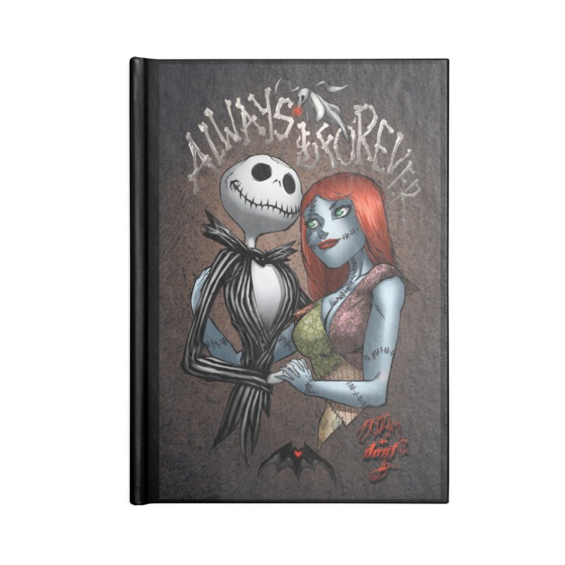 Jack & Sally - Always & Forever Accessories Notebook by EvoComicsInc's Artist Shop