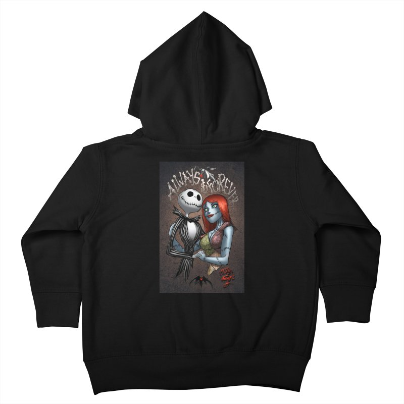 Jack & Sally - Always & Forever Kids Toddler Zip-Up Hoody by Evolution Comics INC