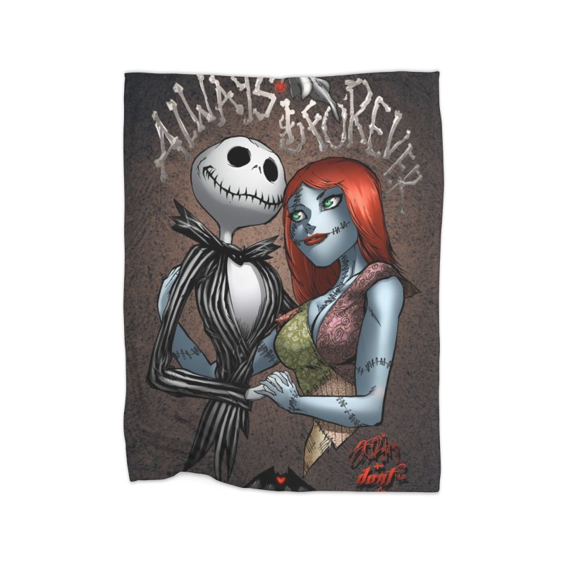 Jack & Sally - Always & Forever Home Fleece Blanket Blanket by Evolution Comics INC