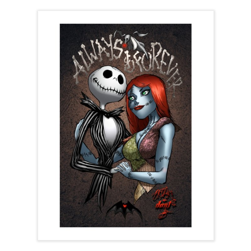 Jack & Sally - Always & Forever Home Fine Art Print by Evolution Comics INC
