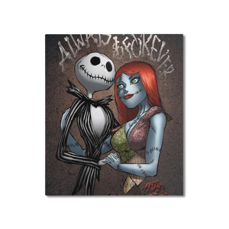 Jack & Sally - Always & Forever Home Mounted Aluminum Print by EvoComicsInc's Artist Shop