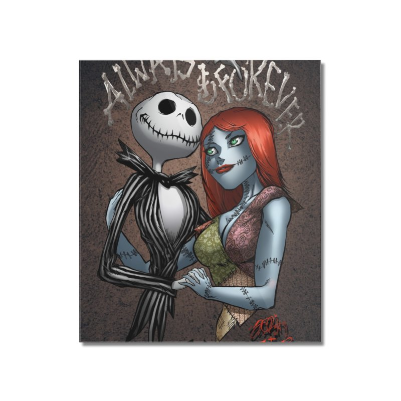 Jack & Sally - Always & Forever Home Mounted Acrylic Print by EvoComicsInc's Artist Shop
