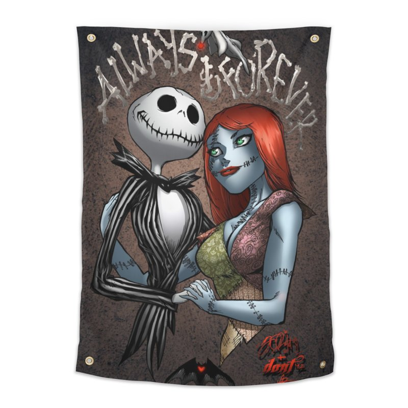 Jack & Sally - Always & Forever Home Tapestry by EvoComicsInc's Artist Shop