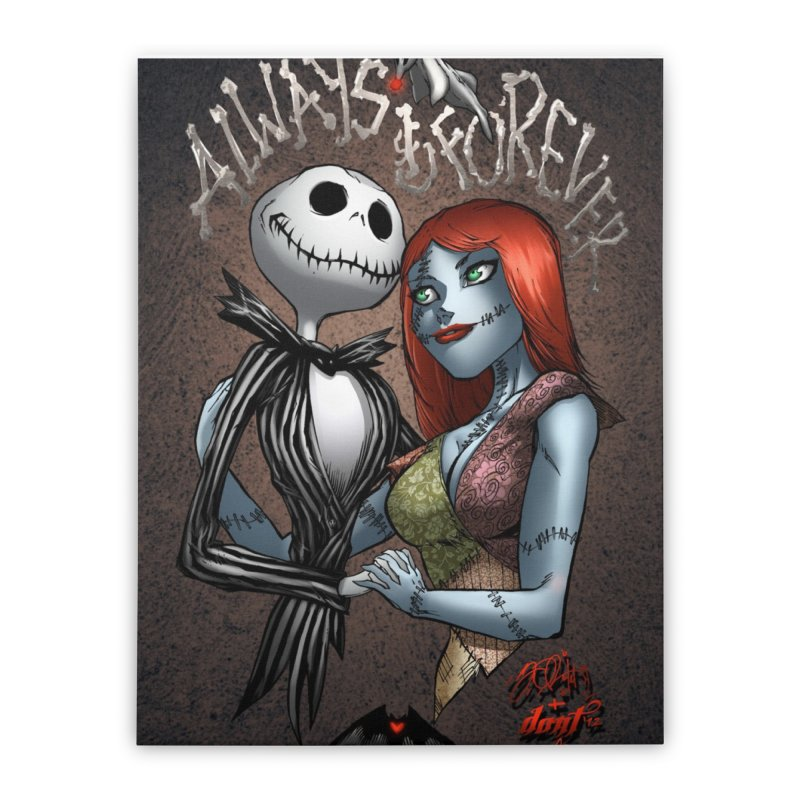 Jack & Sally - Always & Forever Home Stretched Canvas by EvoComicsInc's Artist Shop