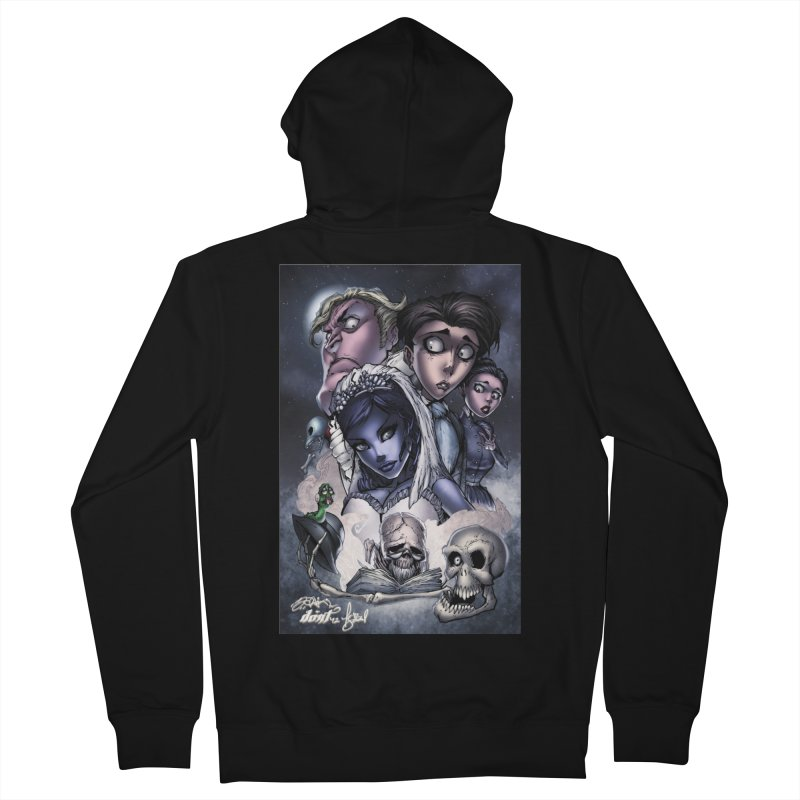 Corpes Bride Men's French Terry Zip-Up Hoody by EvoComicsInc's Artist Shop