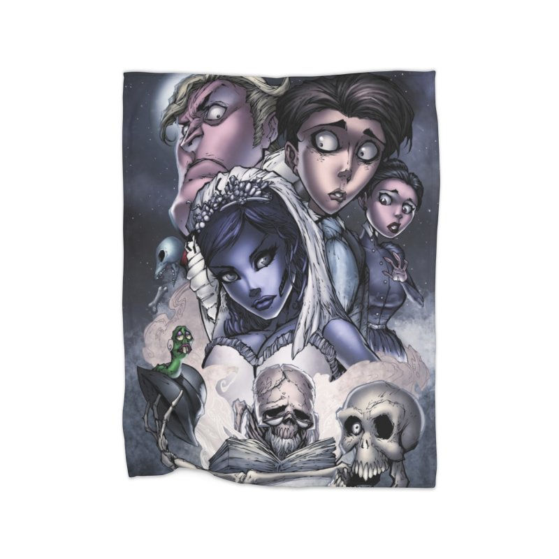 Corpes Bride Home Fleece Blanket Blanket by Evolution Comics INC