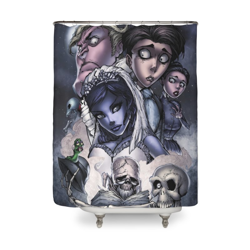 Corpes Bride Home Shower Curtain by Evolution Comics INC