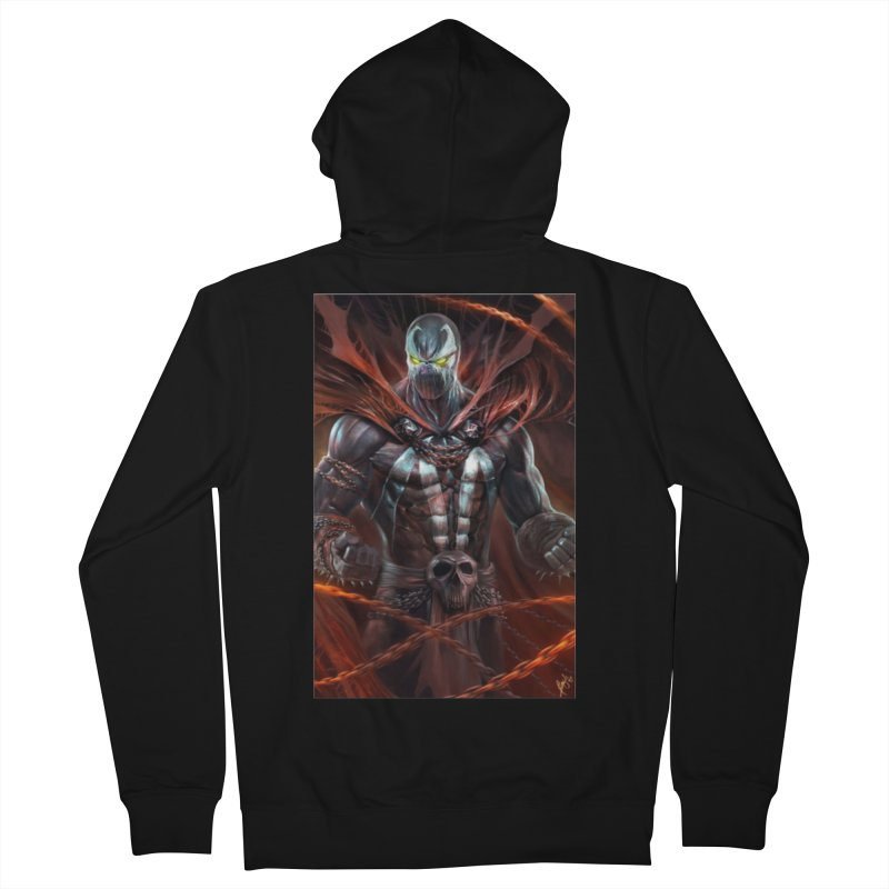 Spawn BM Women's French Terry Zip-Up Hoody by EvoComicsInc's Artist Shop