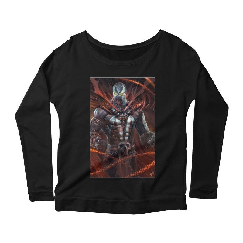 Spawn BM Women's Scoop Neck Longsleeve T-Shirt by EvoComicsInc's Artist Shop