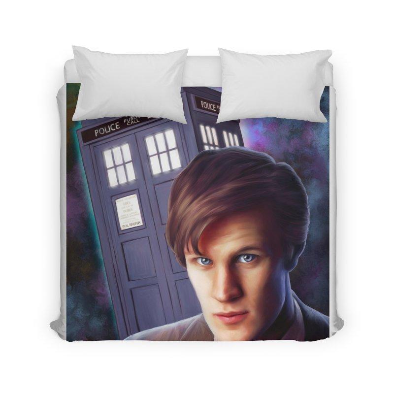 Dr Who 11 (Matt Smith) Home Duvet by Evolution Comics INC