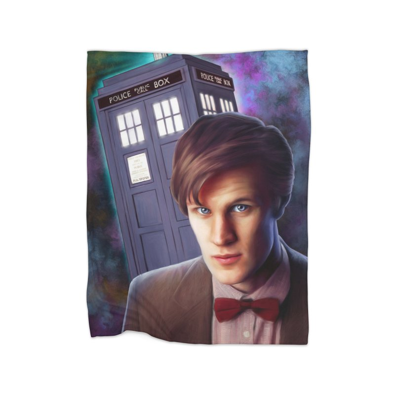 Dr Who 11 (Matt Smith) Home Fleece Blanket Blanket by Evolution Comics INC