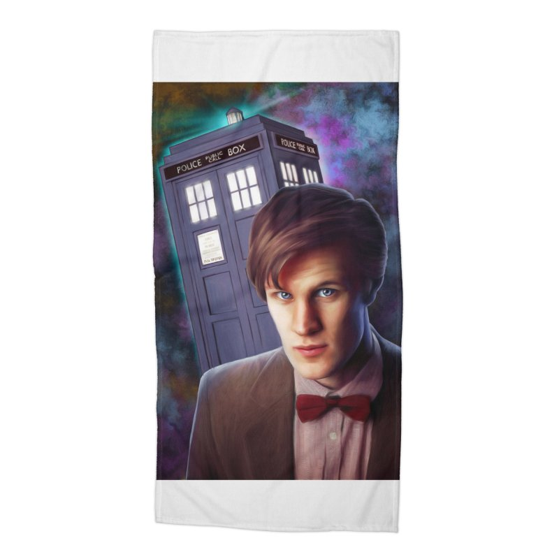 Dr Who 11 (Matt Smith) Accessories Beach Towel by Evolution Comics INC
