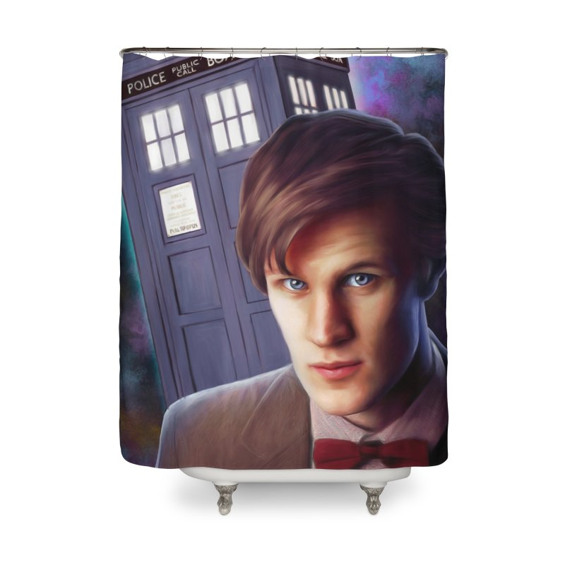 Dr Who 11 (Matt Smith) Home Shower Curtain by Evolution Comics INC