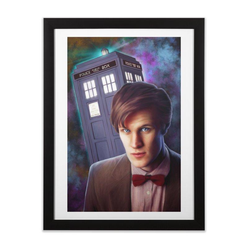 Dr Who 11 (Matt Smith) Home Framed Fine Art Print by EvoComicsInc's Artist Shop