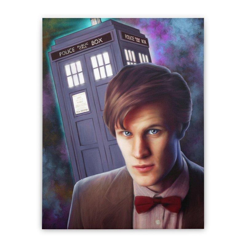 Dr Who 11 (Matt Smith) Home Stretched Canvas by EvoComicsInc's Artist Shop