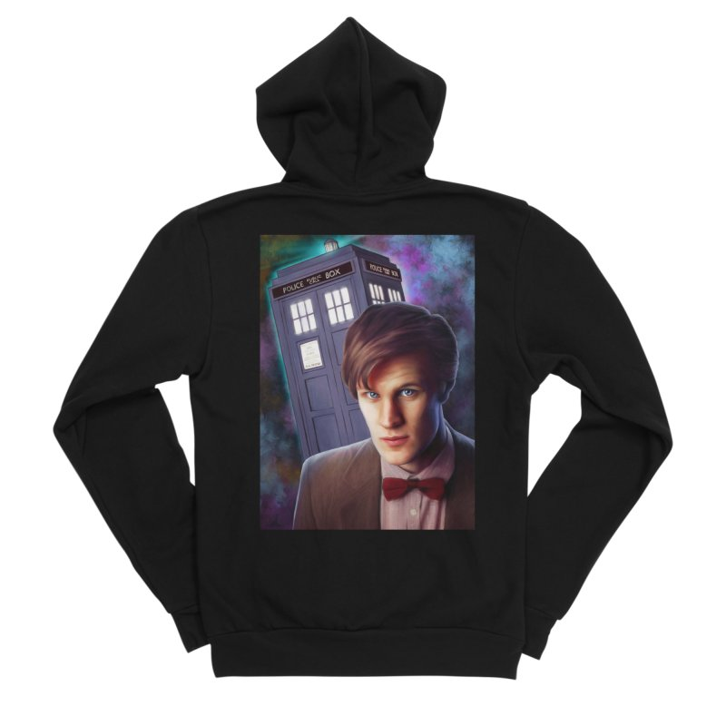 Dr Who 11 (Matt Smith) Men's Sponge Fleece Zip-Up Hoody by EvoComicsInc's Artist Shop