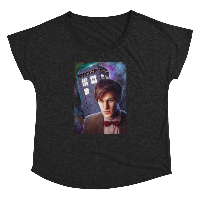 Dr Who 11 (Matt Smith) Women's Dolman Scoop Neck by Evolution Comics INC