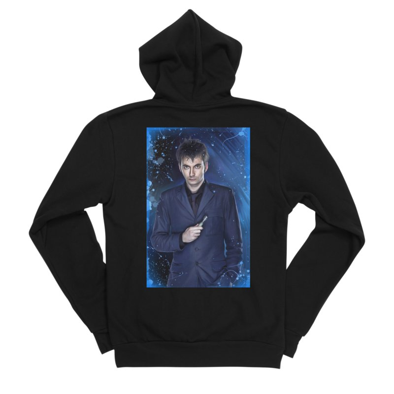 Dr Who 10th (David Tenant) Men's Sponge Fleece Zip-Up Hoody by EvoComicsInc's Artist Shop