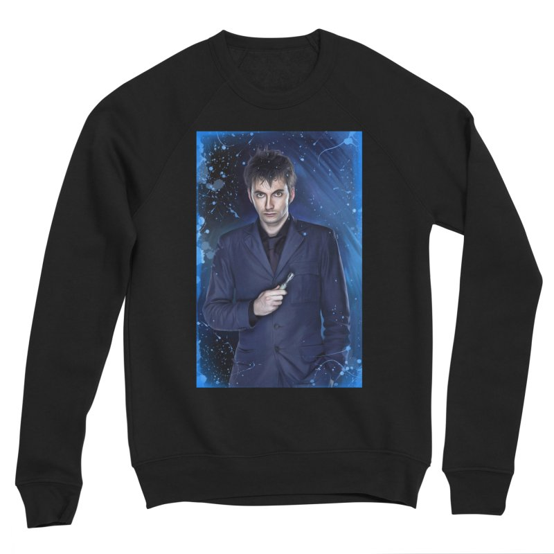 Dr Who 10th (David Tenant) Women's Sponge Fleece Sweatshirt by EvoComicsInc's Artist Shop