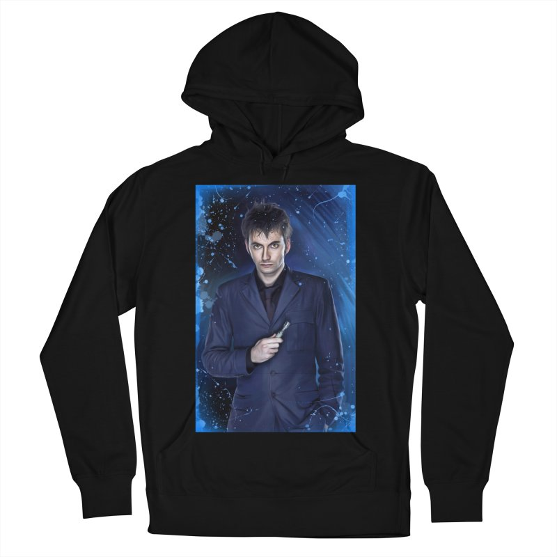 Dr Who 10th (David Tenant) Men's French Terry Pullover Hoody by EvoComicsInc's Artist Shop