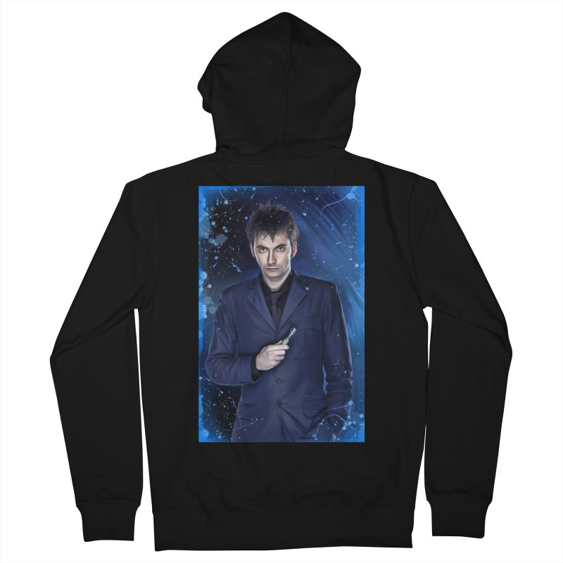 Dr Who 10th (David Tenant) Women's French Terry Zip-Up Hoody by EvoComicsInc's Artist Shop