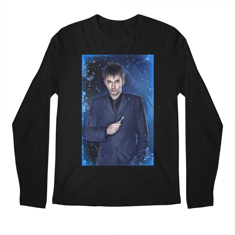 Dr Who 10th (David Tenant) Men's Regular Longsleeve T-Shirt by EvoComicsInc's Artist Shop