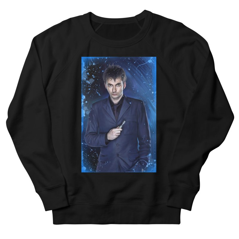 Dr Who 10th (David Tenant) Men's French Terry Sweatshirt by EvoComicsInc's Artist Shop