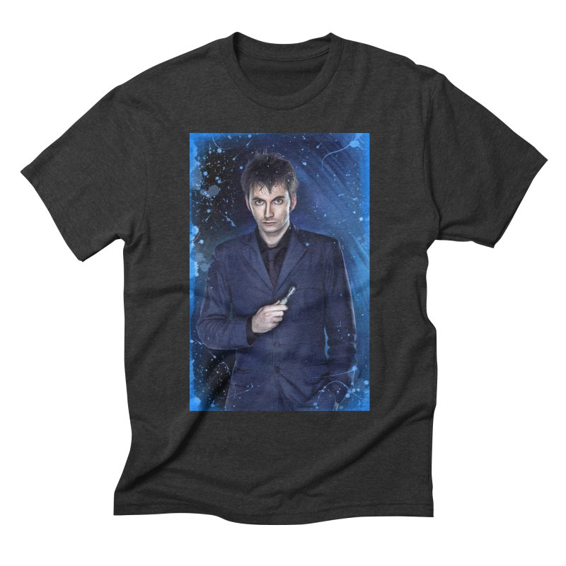 Dr Who 10th (David Tenant) Men's Triblend T-Shirt by Evolution Comics INC