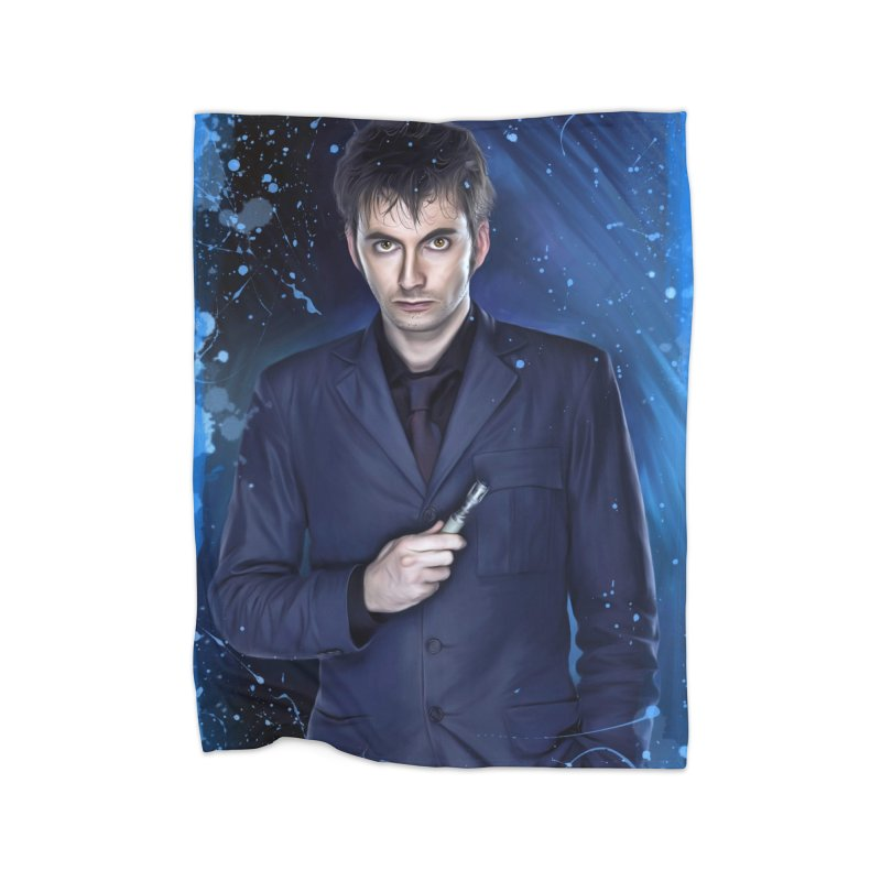 Dr Who 10th (David Tenant) Home Fleece Blanket Blanket by Evolution Comics INC
