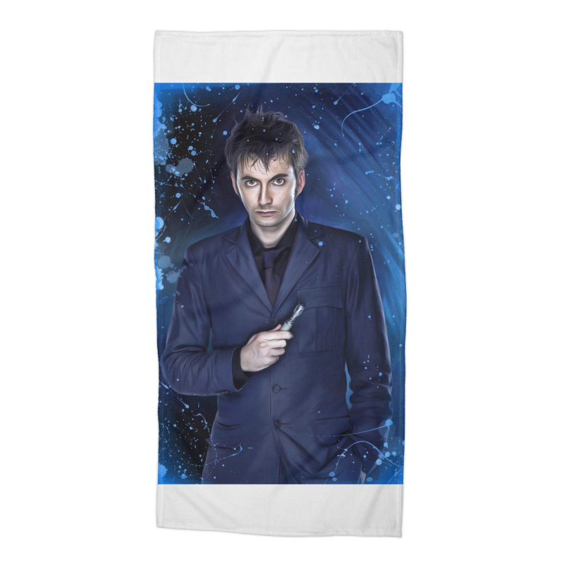 Dr Who 10th (David Tenant) Accessories Beach Towel by Evolution Comics INC