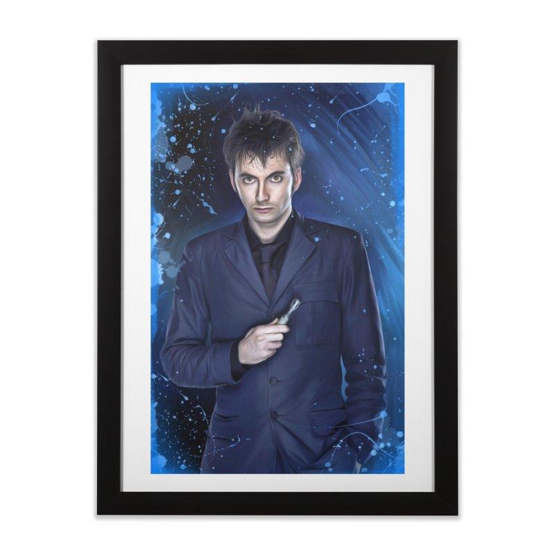 Dr Who 10th (David Tenant) Home Framed Fine Art Print by EvoComicsInc's Artist Shop