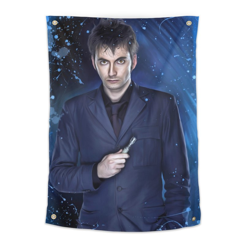 Dr Who 10th (David Tenant) Home Tapestry by EvoComicsInc's Artist Shop