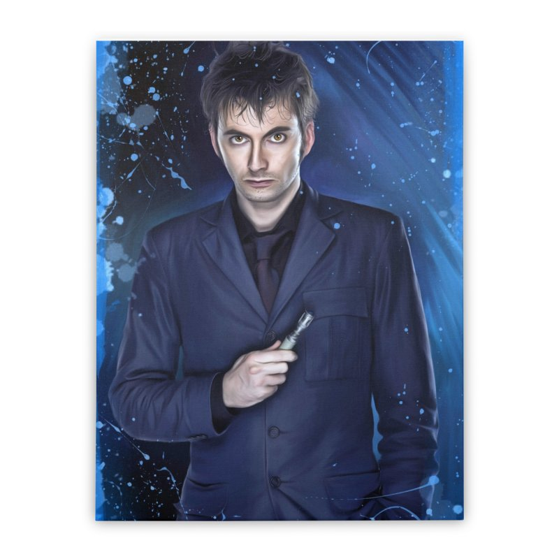 Dr Who 10th (David Tenant) Home Stretched Canvas by EvoComicsInc's Artist Shop