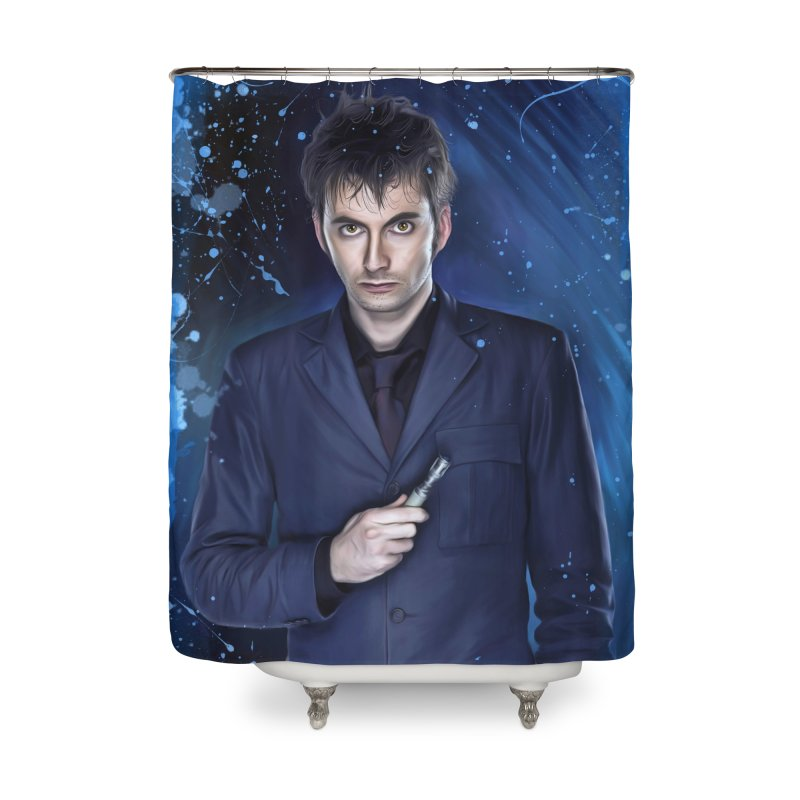 Dr Who 10th (David Tenant) Home Shower Curtain by Evolution Comics INC