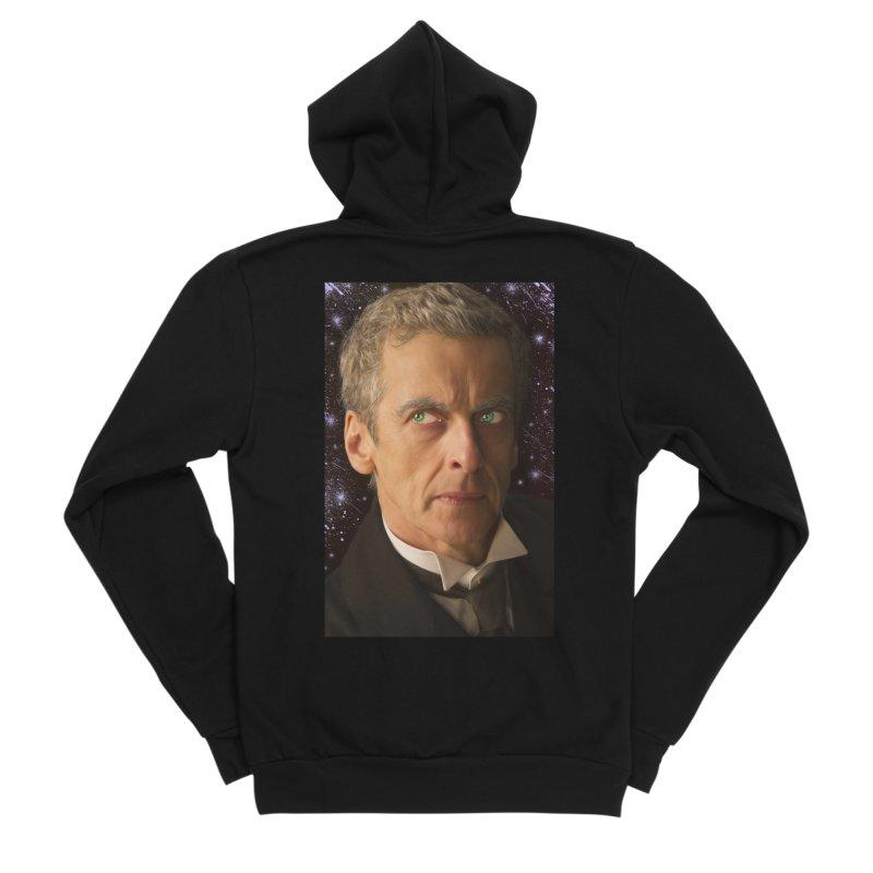 Dr Who 12th Women's Sponge Fleece Zip-Up Hoody by EvoComicsInc's Artist Shop